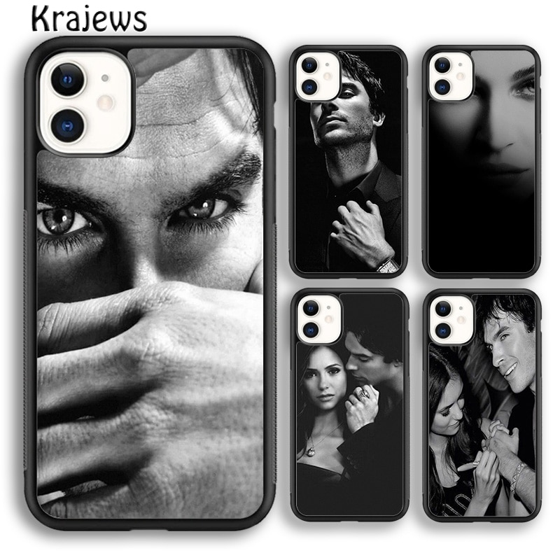 Krajews Damon Elena la vampiro diarios de la cubierta de la caja del teléfono para iPhone 5 5 s 6s 7 8 plus X XS X XR 11 pro max Samsung Galaxy S7 S8 S9 S10