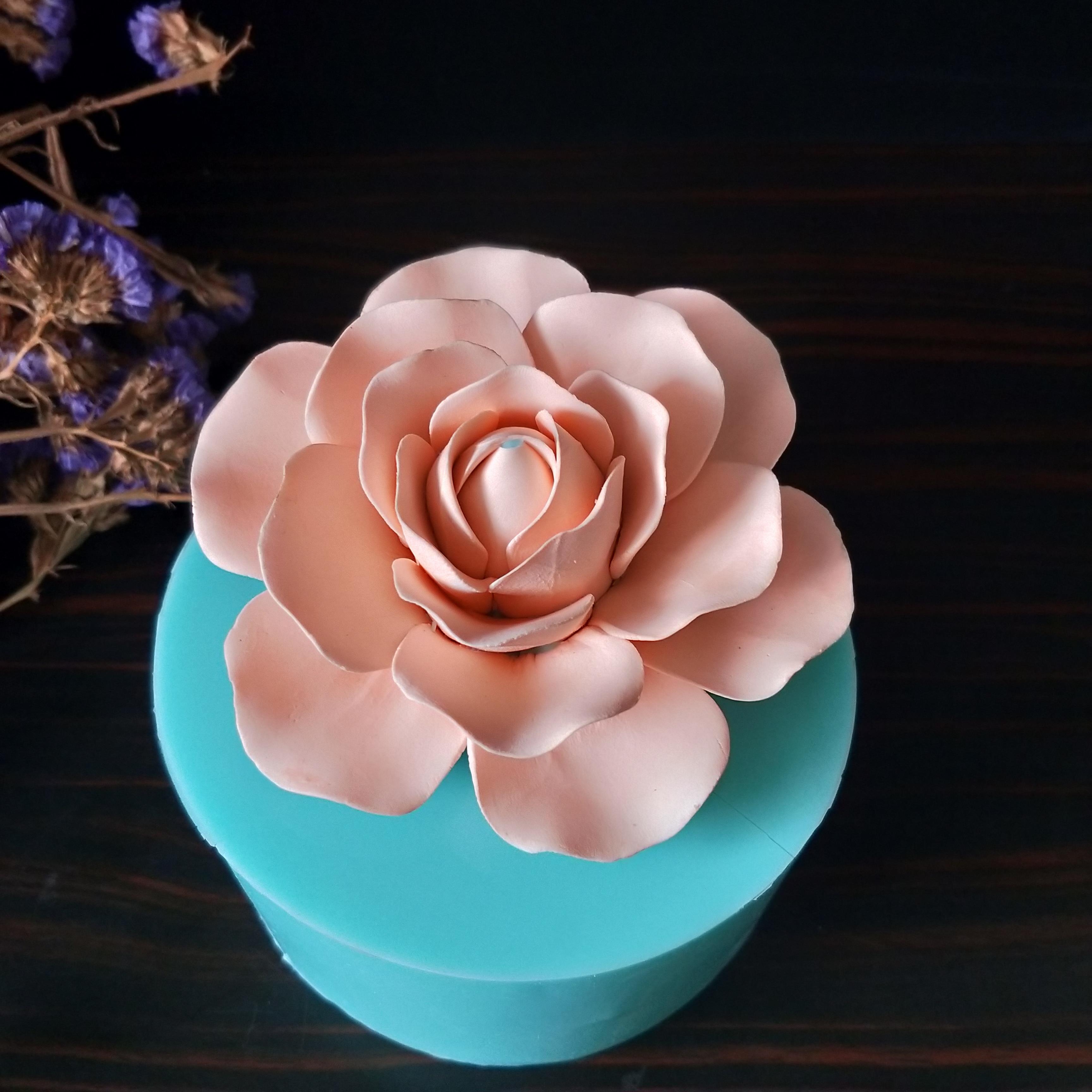 3D زهرة قوالب سيليكون الصابون العفن زهرة شكل العفن للصابون صنع DIY اليدوية كعكة الزينة كعكة أدوات الراتنج الطين العفن