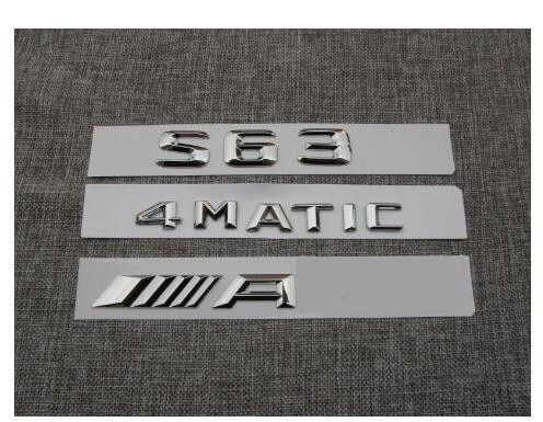 1 conjunto de letras cromo emblema emblemas emblemas para mercedes s63 para amg 4 matic
