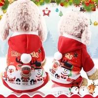 christmas elk santa dog clothes for winter dog coat warm fleece jacket windproof dog jumpsuit snowman pattern christmas clothes