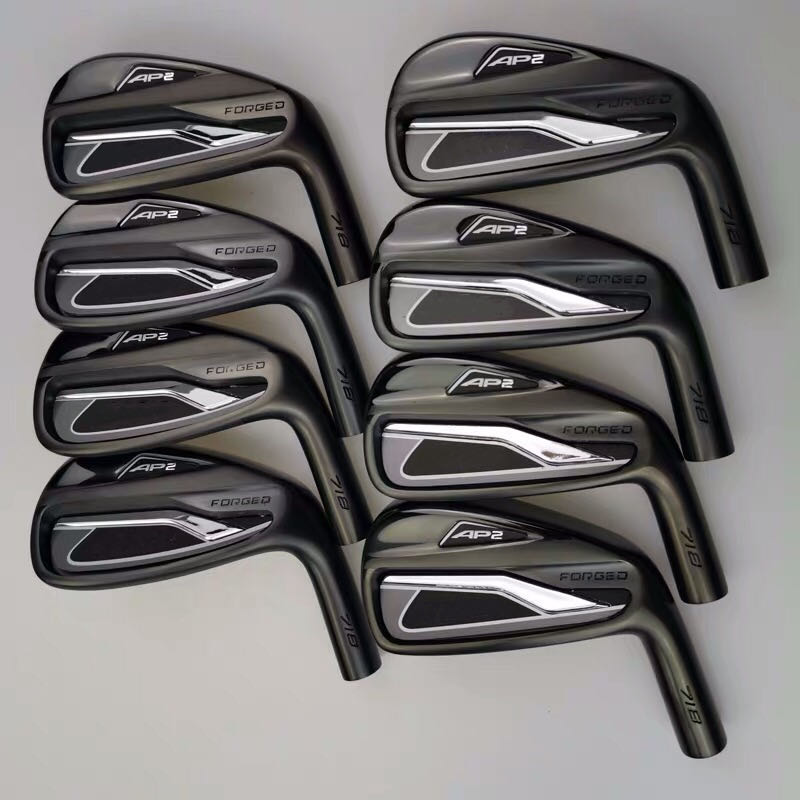 New black limited edition 8-piece 718 AP2 golf irons AP2 718 golf club golf iron set 3-9p steel Graphite shaft free shipping