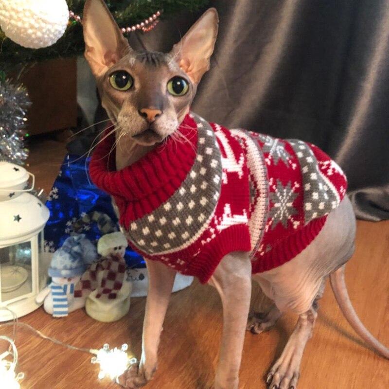 Cute Cat Sweater Pullover Winter Warm Pet Clothes for Cats Kedi Kitten Sweatshirt Cat Costume Clothing Mascotas ropa para gatos