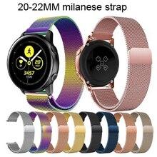 22MM 20MM pasek zegarka milanese pętli do Samsung Gear S2 S3 /galaxy zegarek/amazfit gtr bip / huawei GT2 zegarek zespół akcesoria