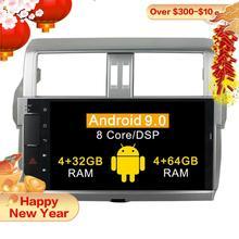 4 + 64G Octa-core Android 9,0 Auto radio gps Navi für Toyota Prado 150 LC150 GPS 2014 2015 2016 2017 gps Navigation BT WIFI keine dvd
