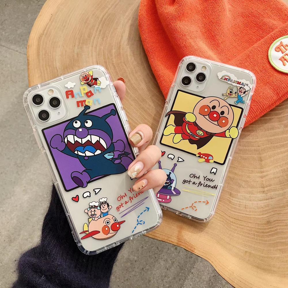 Funda de teléfono de dibujos animados japoneses para iPhone 8 7 Plus X XR XS 11pro Max transparente suave de silicona
