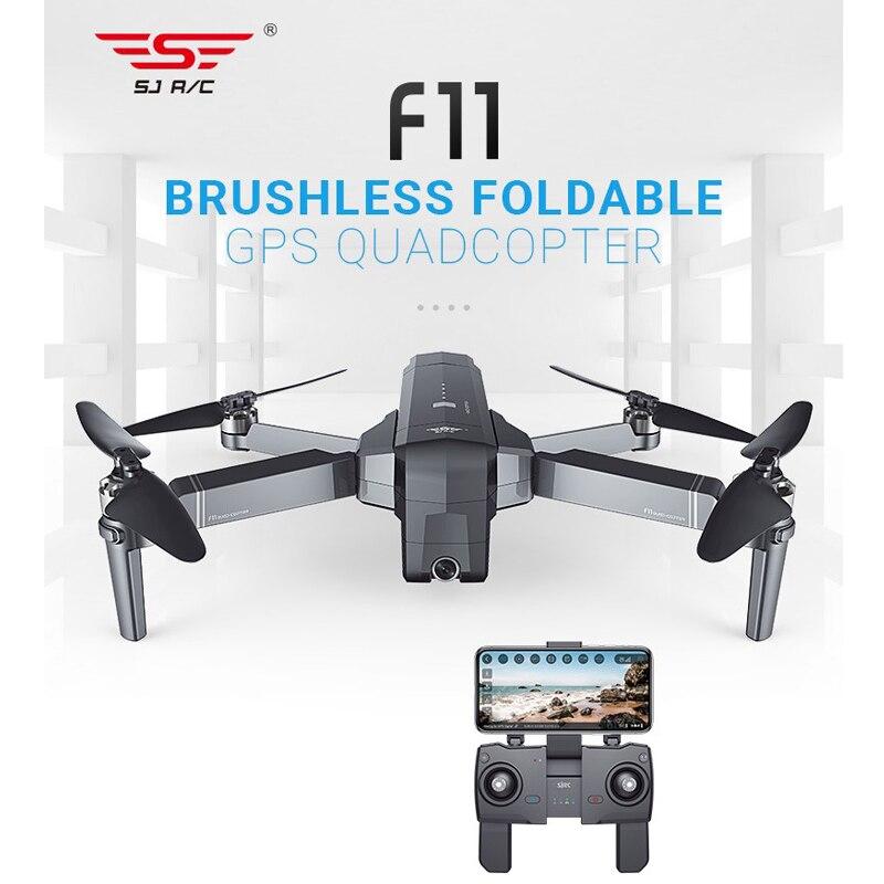 Sjrc f11 gps 5g wifi fpv helicóptero com câmera profissional 1080p 25 minutos de tempo de vôo sem escova dobrável braço rc zangão quadcopter
