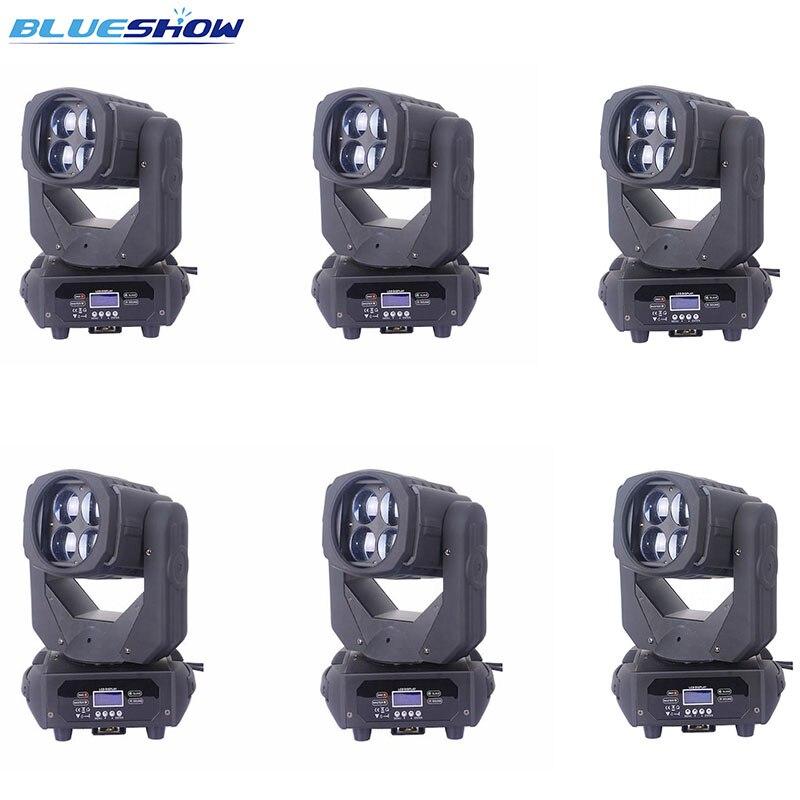 Без налога на заказ 6 шт./лот, супер луч 4x25 Вт Светодиодный светильник с движущейся головкой RGBW 4в1 светодиодные светильники DMX мыть сценическ...