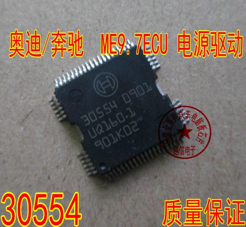 100% nuevo 5 unids/lote 30554 QFP64 coche IC cuerpo ordenador tablero controlador IC chip ME9.7 US Chips de controlador para coche Audi/Mercedes