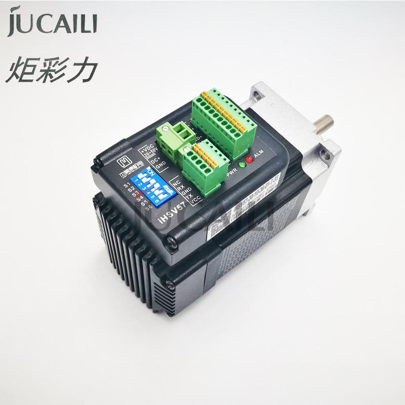 Jucaili طابعة النقل محرك سيرفو 57 ل xp600 طباعة رئيس المتكاملة AC 100w عالية السرعة 3000RPM 36V IHSV57-30-10-36-01-T-33