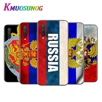 russian flag brown bear for xiaomi mi11 10t note10 ultra 5g 9 9t se 8 a3 a2 6x pro play f1 lite 5g transparent phone case