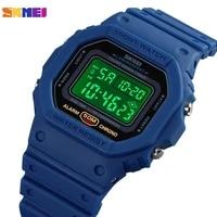 skmei 1628 japan digital movement men wrist watches calendar countdown 5bar waterproof led electronic male clock montre homme