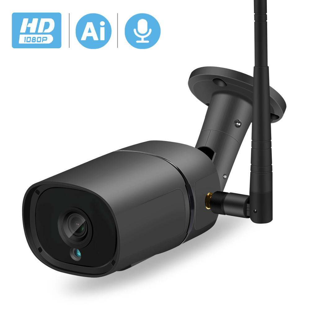 BESDER H.265 1080P Wifi cámara IP detección Ai ranura TF exterior 2MP cámara inalámbrica Audio Color Visión Nocturna cámara de seguridad CCTV
