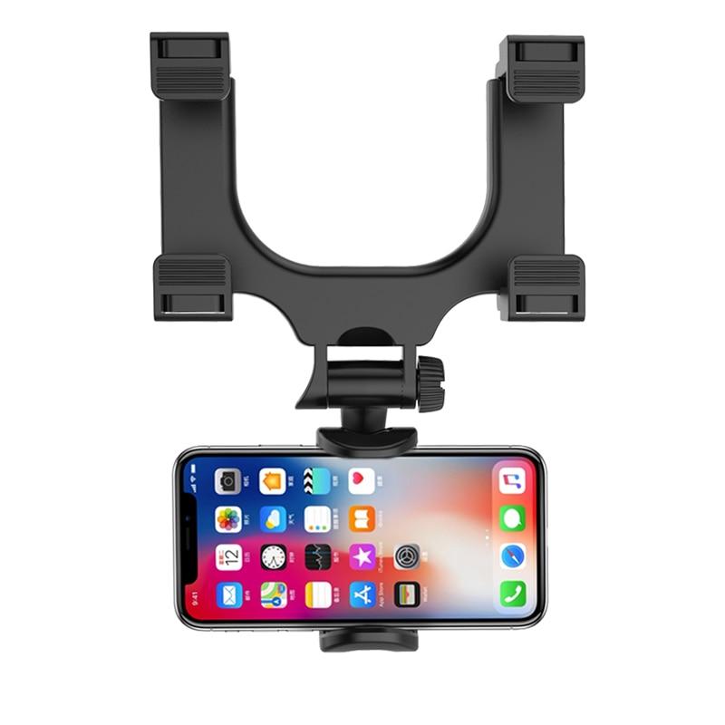 Soporte para teléfono inteligente XMXCZKJ, soporte para espejo retrovisor de coche para iPhone Xiaomi, GPS, soporte Universal de teléfono para coche, 360 grados