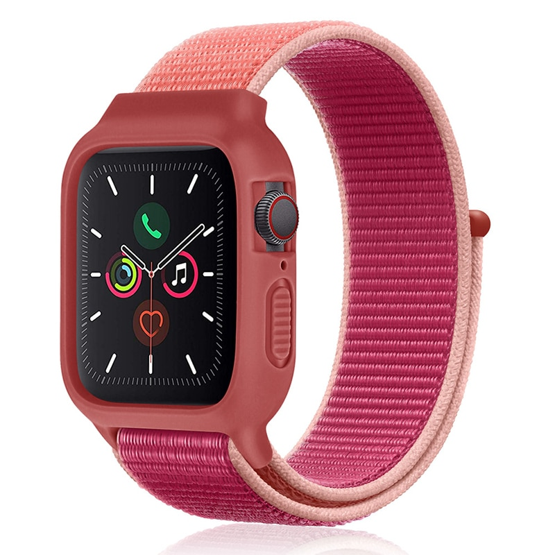 Correa de nailon para Apple Watch, Correa deportiva de 44 mm y 40mm de 42mm y 38mm para Apple Watch 5, 4, 3 y 2