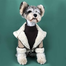 Schnauzer Thick Jacket for Poodle Costume Pug Apparel S-2XL PC1404