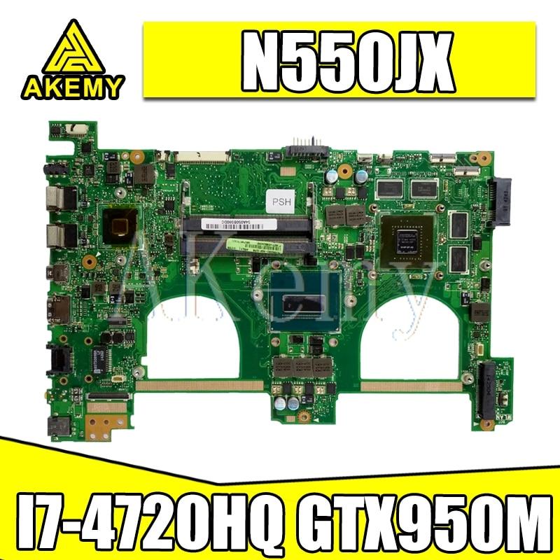AKEMY N550JX материнская плата для ноутбука ASUS N550jv N550JK N550J N550JX материнская плата 100% тест Ok I7-4720HQ GTX950M