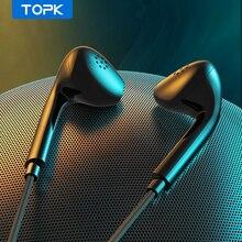 Проводные наушники TOPK F20 для телефона Redmi, Samsung, Xiaomi, игровые наушники для ПК и геймеров с микрофоном, гарнитура для Lenovo, Huawei