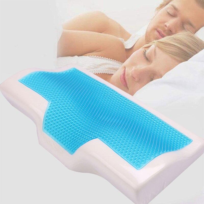 Ortopedyczne żelowa poduszka z pianki Memory 60x35cm delikatne, na lato Ice-cool powolne powracanie do kształtu poduszka do spania z poszewki na poduszkę opieki zdrowotnej poduszka pod kark