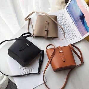 2021 Totes Women's Bag Solid Color Pu Shoulder Messenger Bag Casual Women Shopping Bags Ladies Fashion Big Bags Female Purse New