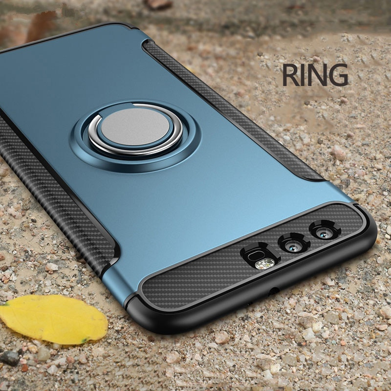 Funda de anillo para Huawei Honor 10 V20, funda P30 pro con soporte de armadura magnética Nova 4, funda para Honor 9 Lite, fundas para Huawei Honor 7X