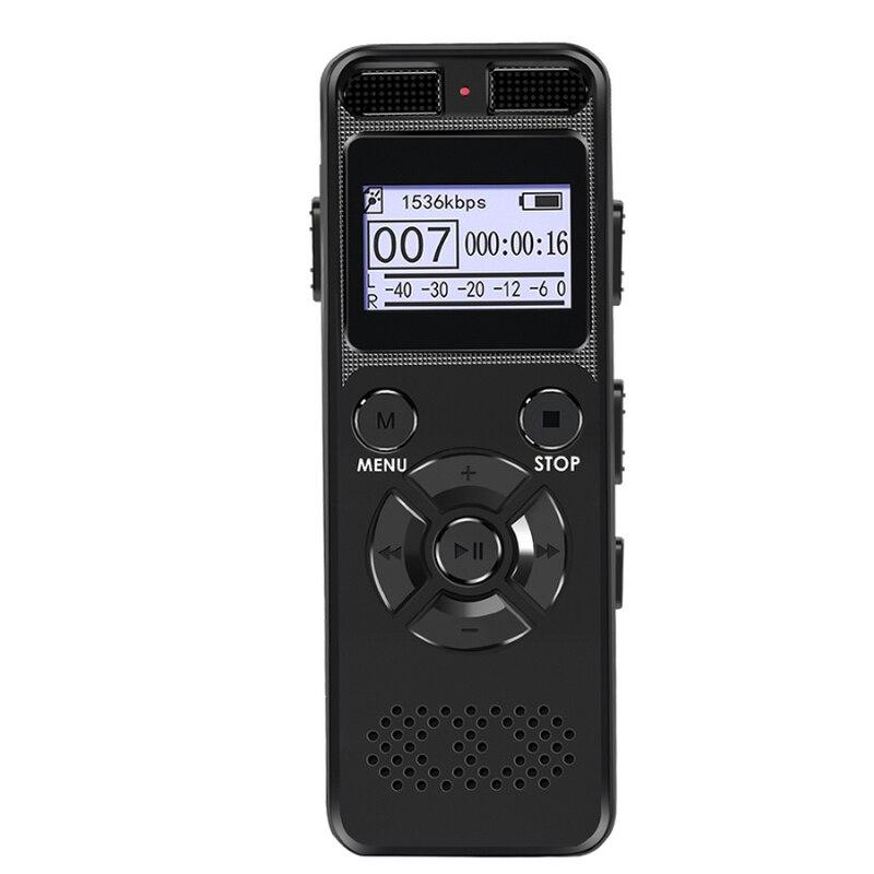 سر مسجل صوتي صوتي رقمي 8 جيجابايت 16 جيجابايت المهنية المحمولة مسجل MP3 للأعمال دعم ما يصل إلى 64 جرام TF بطاقة V32