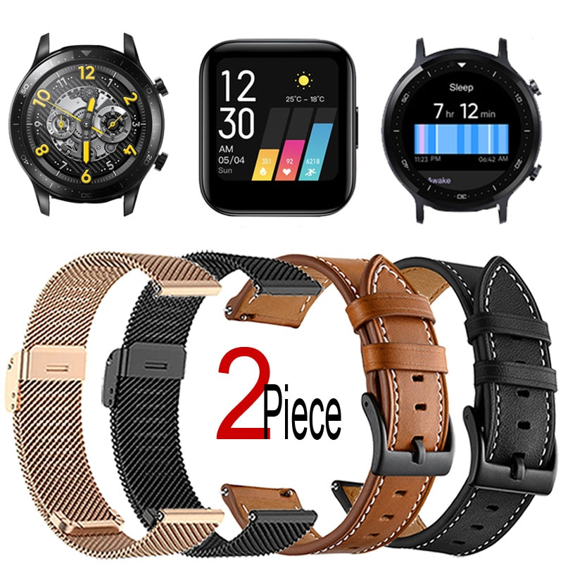 yayuu 22mm universal top quality vertical nylon watchband sports strap adjustable wristband replacement smart watch straps Bracelet For Realme Watch S/2 Pro Smart Watch Strap Replacement Wristband Leather/Milanese Metal Watchband 20mm/22mm Universal