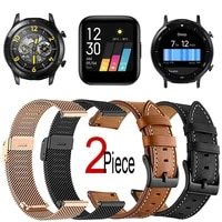 bracelet for realme watch s2 pro smart watch strap replacement wristband leathermilanese metal watchband 20mm22mm universal
