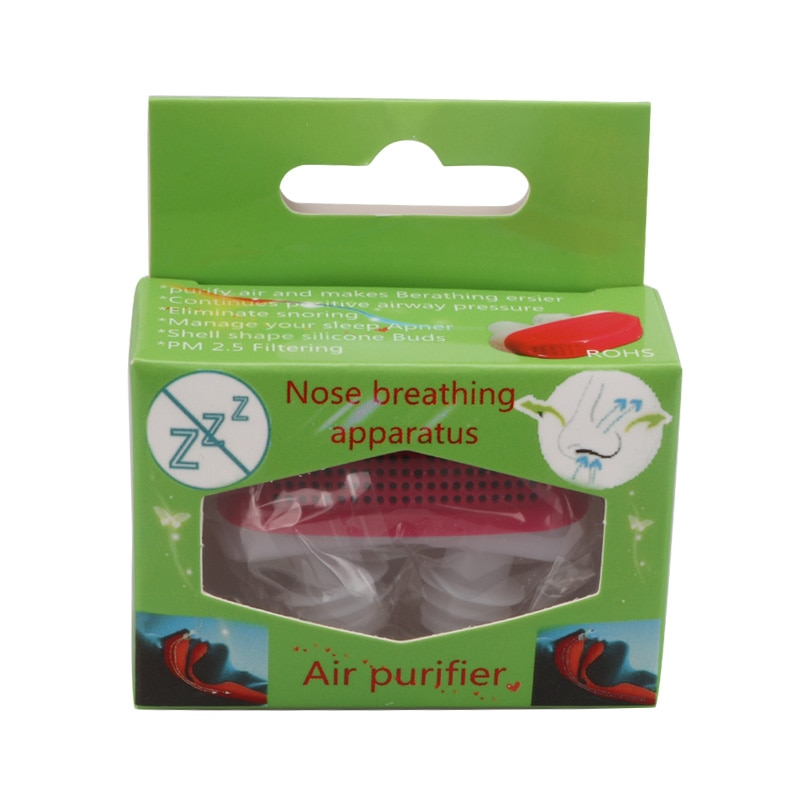 1PC New Sleeping Anti Snoring Nose Clip Silicone Magnetic Anti Snoring Nose Clips Sleeping Nasal Dilators Apnea Aid Device