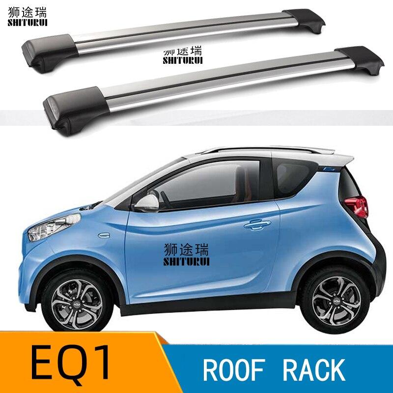 2 piezas barras de techo para Chery eQ1 de aleación de aluminio de barras laterales Cruz rieles barras de techo equipaje CUV SUV LED