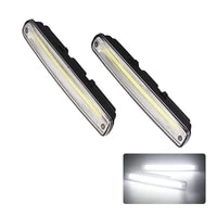 2pcsset car led daytime driving light with onoff function led daytime running light drl 100 waterproof car cob fog lamp