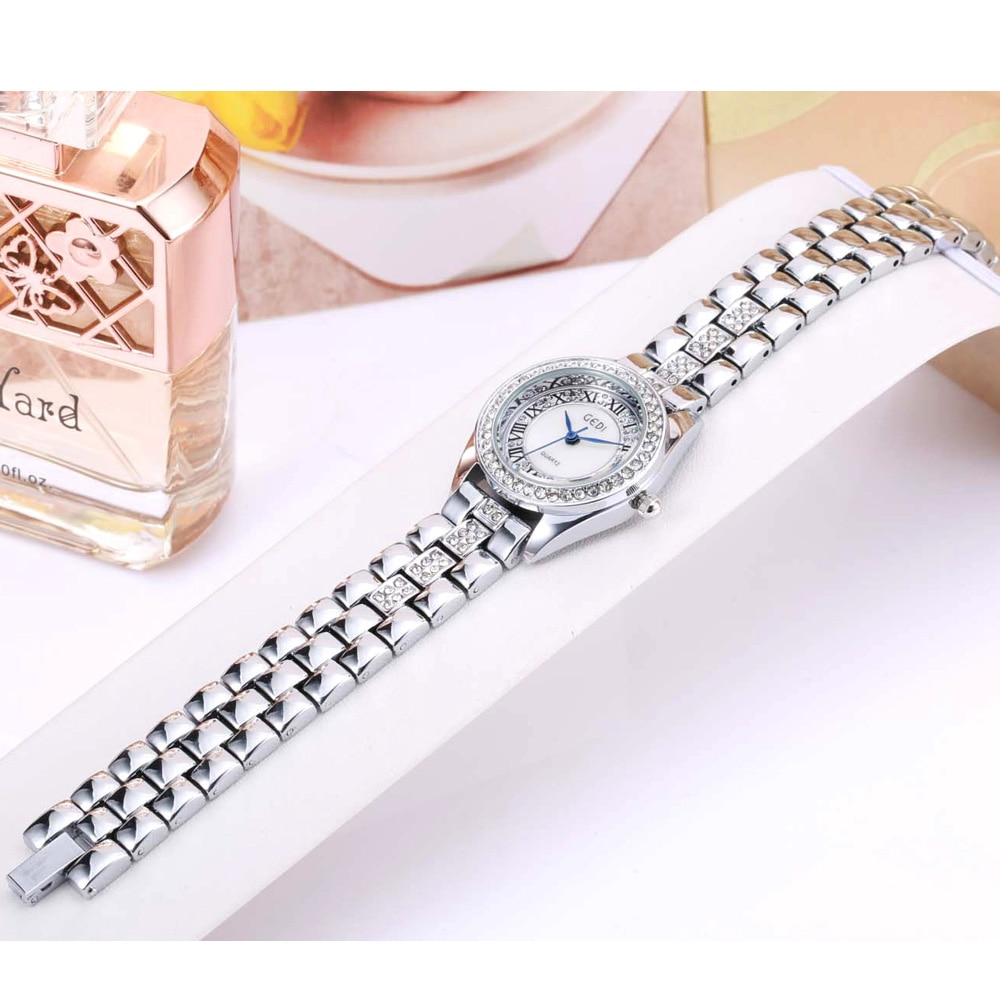 Gold Silver Women Watches Quartz Watch Lady Stainless Steel Fashion Waterproof Wrist Watch Relogio Feminino Clock Reloj Mujer enlarge