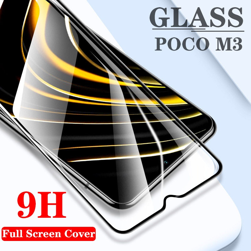 Protector de pantalla de cristal templado 9H para xiaomi POCO M3, Accesorios...