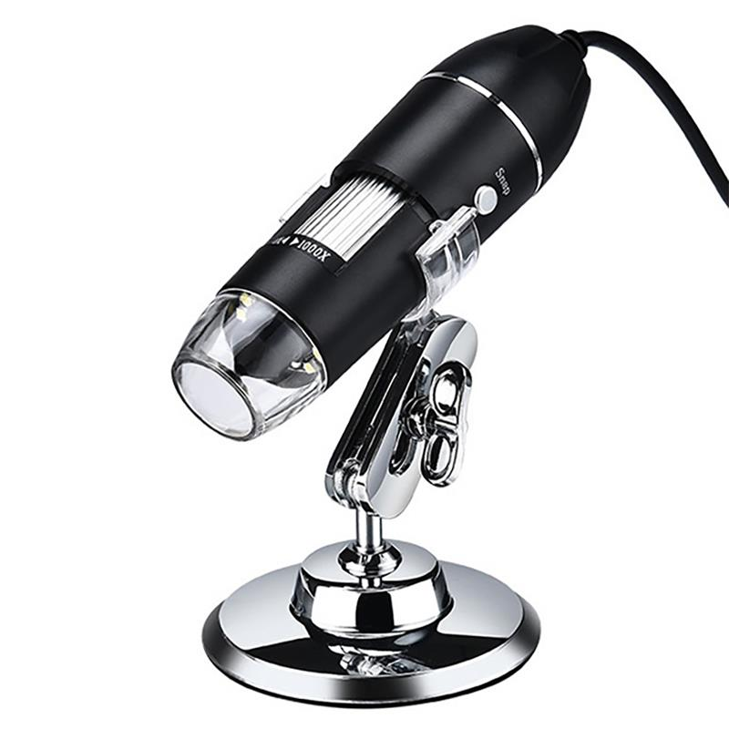 1600X Digital Microscope USB Handheld LED Magnification Endoscope w/ Stand 7 45x magnification continuous zoom trinocular stereo microscope micromirror usb microbial digital video electron