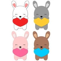 new rabbit wooden die scrapbooking c2741 cutting dies multiple sizes compatible with most die cutting machines