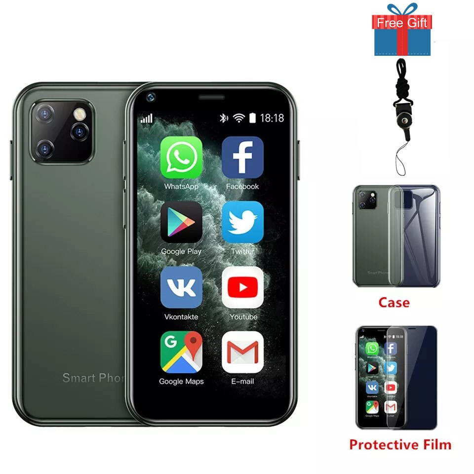Mini Android 6.0 Cell Phones With 3D Glass Slim Body HD Camera 2 Sim Quad Core Google Play Market Smallest Smartphone SOYES XS11