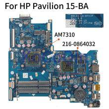 KoCoQin اللوحة لابتوب HP جناح 15-BA 854967-001 854967-501 AM7310 اللوحة LA-D711P 216-0864032 DDR3L