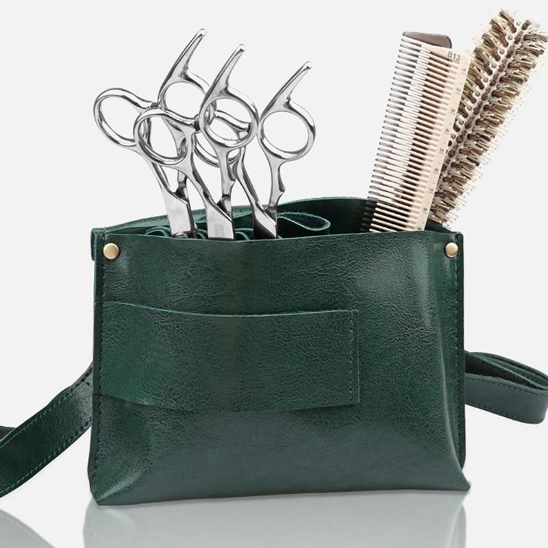 Multifunction Hair Scissors Leather Case Waist Belt Barber Packet Salon Pouch Hairdressing Scissors Kit Bag enlarge