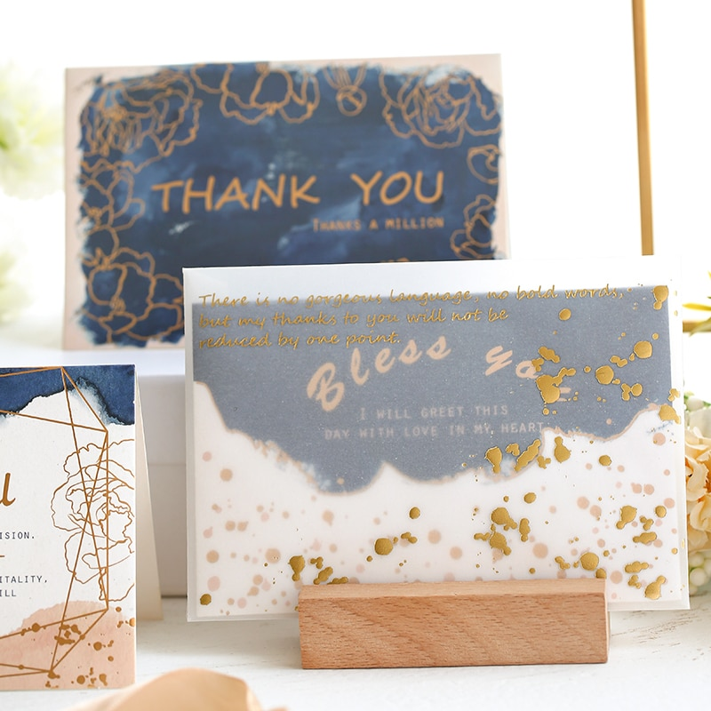 Thank you cards Greeting card thank you cards for business paper Envelope letter paper Craft Scrapbooking paper Lomo cards