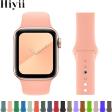 Fashion Strap for apple watch se band iwatch series 6 se 5 4 3 2 38mm 42 mm Silicone woman bracelet