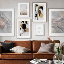 Toile dart murale en bloc de couleur   art fluide abstrait, plante à roseaux, toile dart murale, affiches et imprimés nordiques, photos murales pour décor de salon