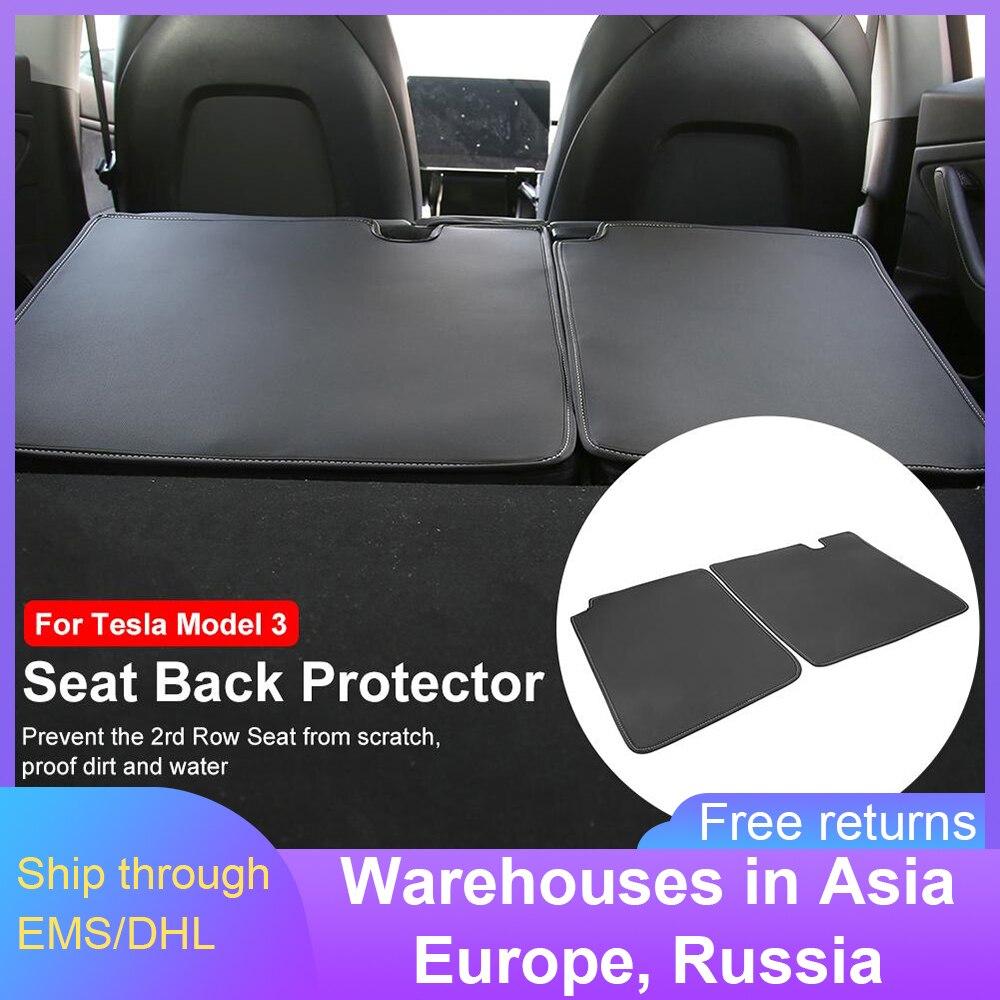Защита спинки сиденья для Tesla Model 3, коврики без запаха, коврики для автомобильных сидений, чехлы для сидений, автомобильные Чехлы, Funda Asiento Coche