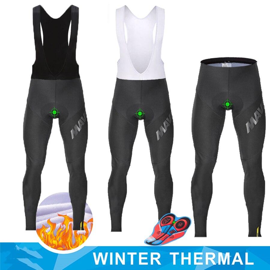MAVIC Winter Fleece Thermische Männer Radfahren Lange Hosen triathlon Im Freien Fahrrad Tragen bib Hosen Top qualität stoßfest Bike Hose
