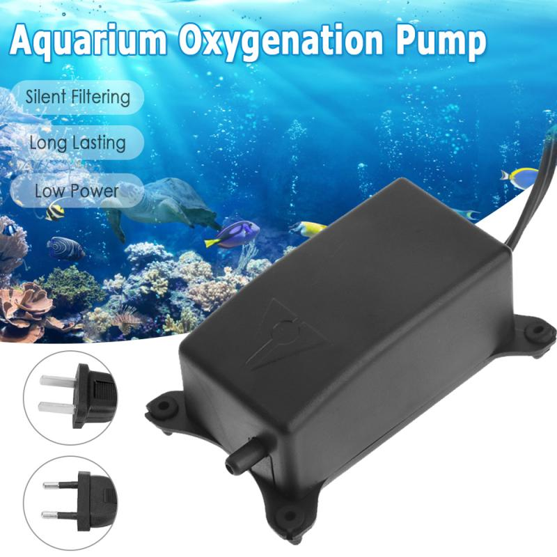 Energy Efficient Aquarium Oxygen Pump Air Pump Ultra Silent Fish Tank Aerator Pond Pump Hose Airstone Hydroponic Oxygen Plate