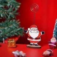 1 pc christmas santa card holder cute note clip message for festival home gift party folder christmas hol paper decorations r5r0