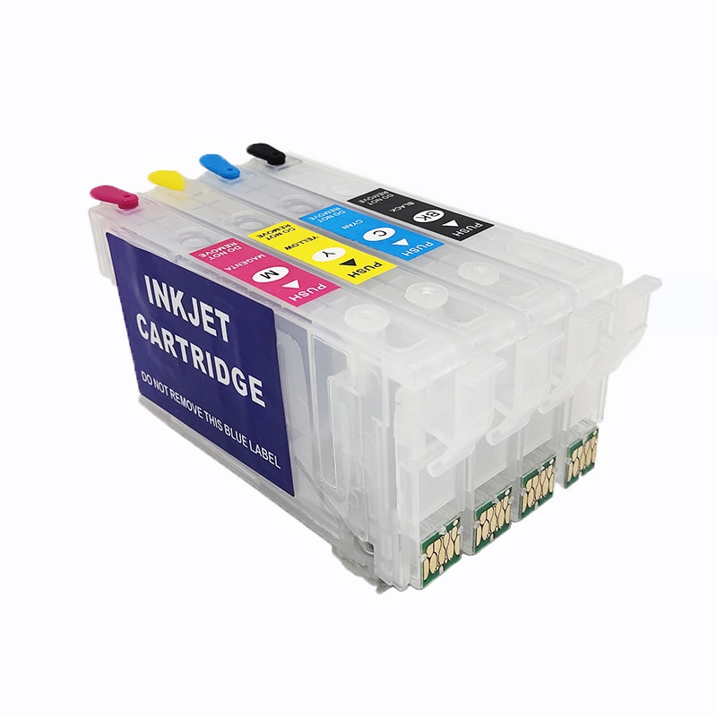 Vilaxh T802XL T802 802 Refillable Ink Cartridge NO Chip for Epson Workforce WF-4720 WF-4730 WF-4734 WF-4740 EC-4020 EC-4030