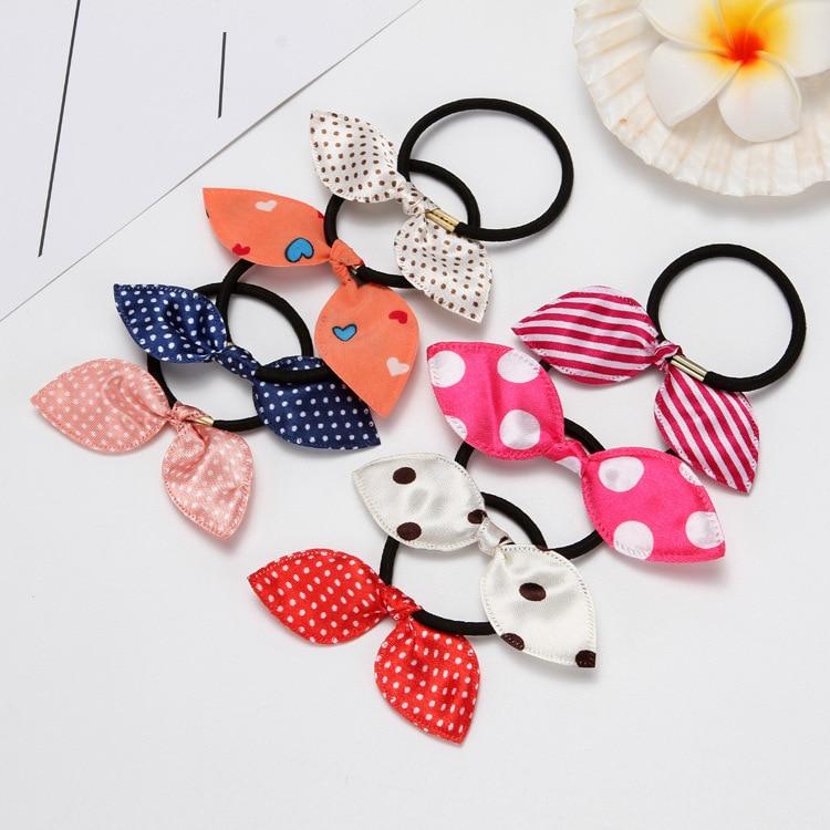 Rubber Bands for Women Girls 2020 Fashion Hair Accessories Print Flower Elastic Hair Bands Women Bow Ponytail Holder Scrunchie