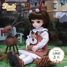 Xiaomi 30cm BJD Doll 25 Moveable Joint Dolls Long Hair 3D Eyes Fashion Clothes Shoes Style Dress Up