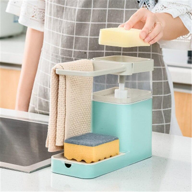 Новый многофункциональный горшок для мытья посуды и чистки, прессование, автоматическое жидкое моющее средство, жидкая коробка, раковина с ...