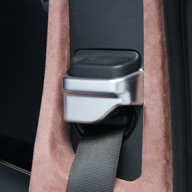 Decoración para cinturón de seguridad de asiento de coche, pegatina decorativa para Mercedes Benz C W205 E W213 GLC X253, accesorios para interiores de clase