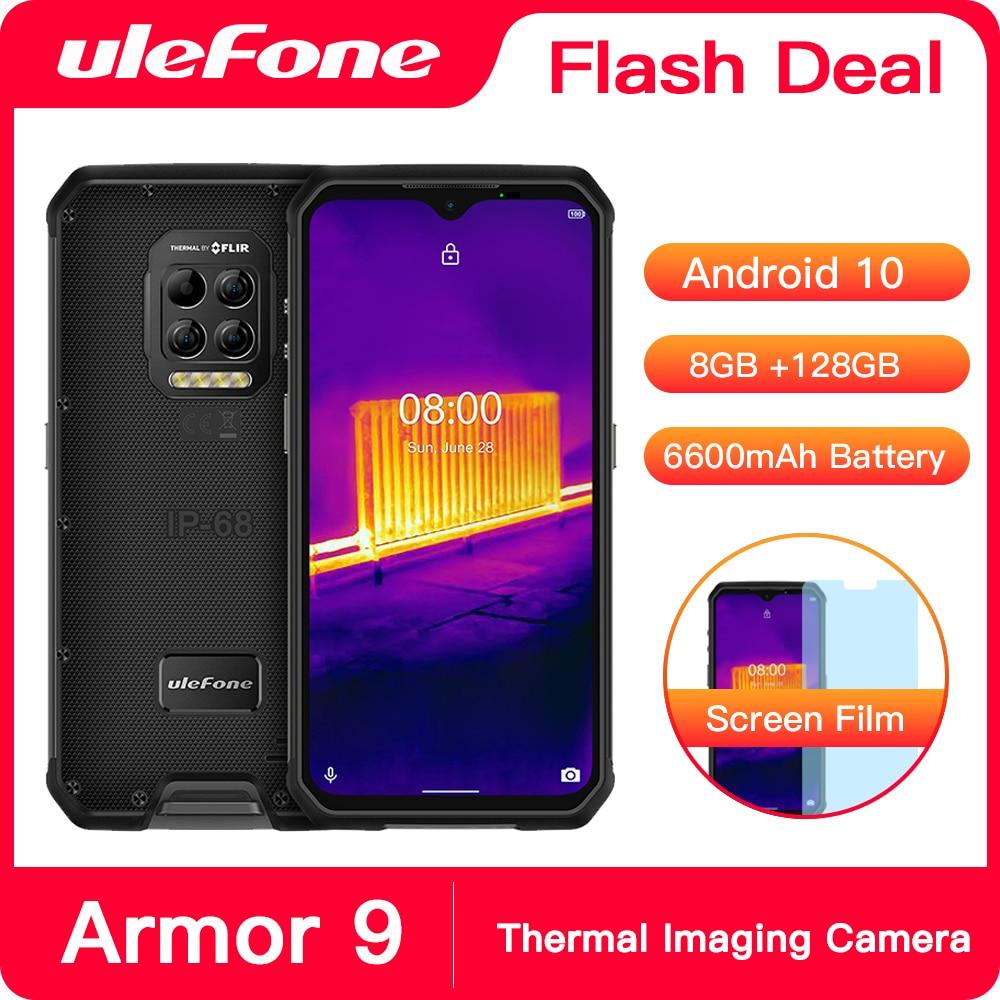 Перейти на Алиэкспресс и купить Смартфон Ulefone Armor 9 на Android 10, 8-ядерный процессор Helio P90, 8 + 128 ГБ, 6600 мАч